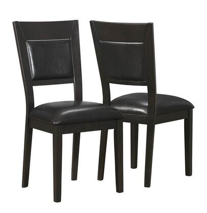 Monarch I1495  Faux Leather Wood Frame Dining Room Chair