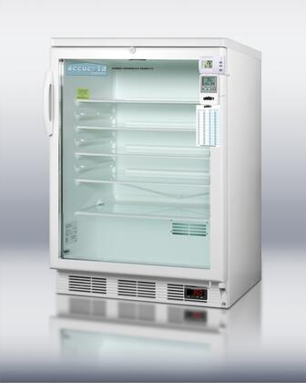 Summit SCR600LBIMEDSC AccuCold Series Compact Refrigerator with 5.5 cu. ft. Capacity in White