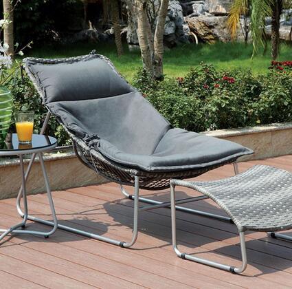 Furniture of America CMOC2120CH Lili Series  Aluminum Frame  Patio Chair