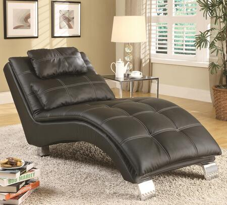 Coaster 550075 Dilleston Series Contemporary Faux Leather Wood Frame Chaise Lounge