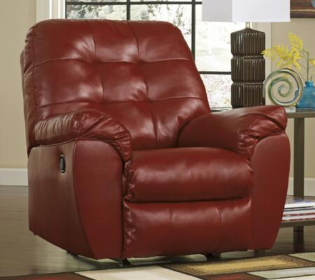 Signature Design by Ashley 2010X25 Alliston DuraBlend Rocker Recliner with Button Tufted Cushions, Pillow Padded Arms and Metal Drop-In Unitized Seat Box in