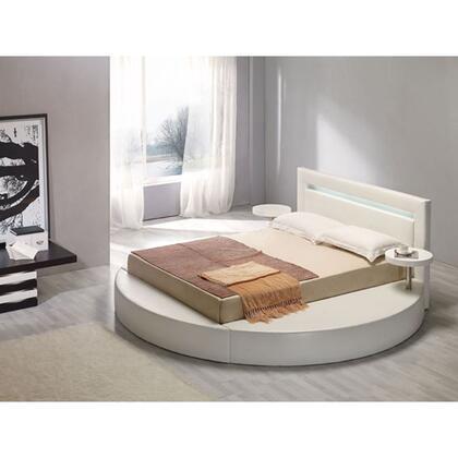 VIG Furniture VGKCPALAZZOKWHT  King Size Platform Bed