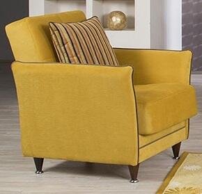 "Casamode BEDEAC 33"" Convertible Arm Chair with Pillow, Piped Stitching, Tapered Legs and Storage Under the Seat in"