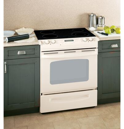 GE JSP42DNCC CleanDesign Series Slide-in Electric Range with Smoothtop Cooktop Storage 4.4 cu. ft. Primary Oven Capacity