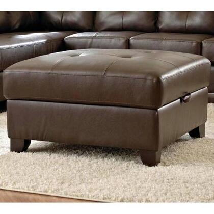 Klaussner VERVEOTTO Verve Series Contemporary Leather Ottoman