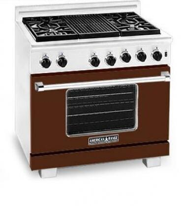 American Range ARR366LHB Heritage Classic Series Liquid Propane Freestanding Range with Sealed Burner Cooktop, 5.6 cu. ft. Primary Oven Capacity, in Brown