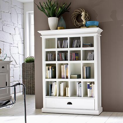 Infinita 814495012079 Halifax Series Wood 16 Shelves Bookcase