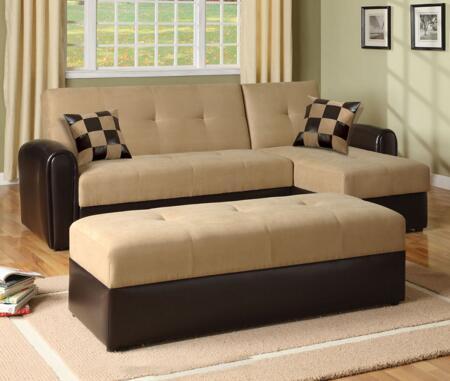 Acme Furniture 05775 Lakeland Series Sofa and Chaise Sofa