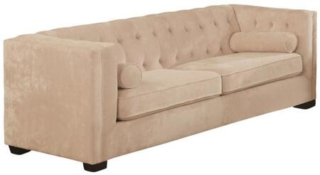 """Coaster Alexis Chesterfield 86"""" Sofa with Track Arms, Reversible Seat Cushions, Lumbar Pillows Included, Button Tufted Back and Low Pile Chenille Upholstery in"""