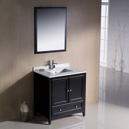 """Fresca Oxford Collection FVN2030 30"""" Traditional Bathroom Vanity with 2 Soft Close Doors, Soft Close Dovetail Drawer and Tapered Legs in"""
