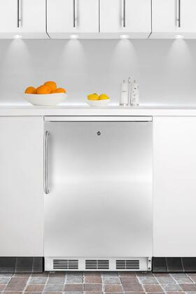 Summit FF6L7BISSTB  Compact Refrigerator with 5.5 cu. ft. Capacity in Stainless Steel