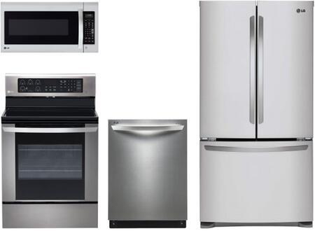 LG LG4PCFSFDFSFDFISSKIT1 Kitchen Appliance Packages
