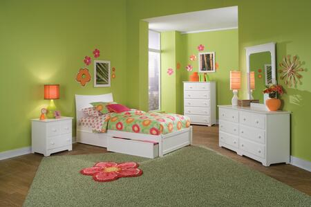 Atlantic Furniture SSOHOFPFTWINWH Soho Series  Twin Size Bed