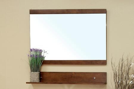 Bellaterra Home 20313XMIRROR Solid Wood Frame Mirror - Walnut