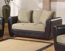 Acme Furniture 57024 Dana Point Series Faux Leather LoveSeat w/Storage with Wood Frame Loveseat