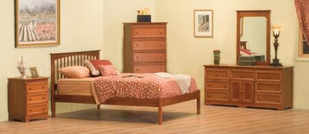 Atlantic Furniture BROOFAWKG Brooklyn Series  Bed