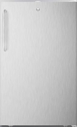 "AccuCold FS407L7BISSxx 20"" Upright Freezer with 2.8 cu. ft. Capacity, 4 Pull-Out Storage Drawers, Reversible Door, Factory Installed Lock and Manual Defrost, in Stainless Steel with"