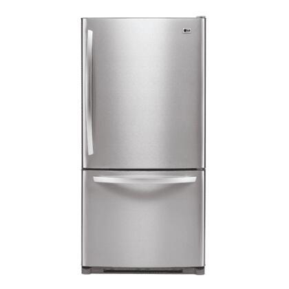 LG LDC22720ST  Bottom Freezer Refrigerator with 22.4 cu. ft. Total Capacity 6.9 cu. ft. Freezer Capacity 5 Glass Shelves  |Appliances Connection