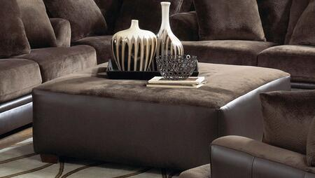 Jackson Furniture 44422809 Contemporary Fabric/Faux Leather Ottoman