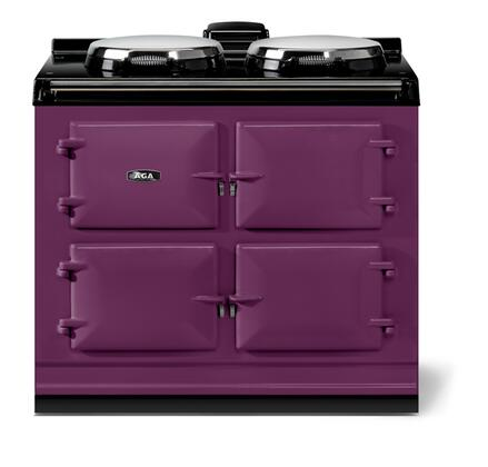 "AGA ATC3AUB 40"" Total Control Series Slide-in Electric Range with Smoothtop Cooktop, 1.5 cu. ft. Primary Oven Capacity, in Aubergine"