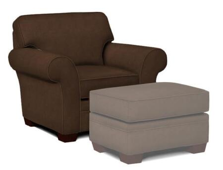 "Broyhill Zachary Collection 7902-0QX 45"" Chair with Fabric Upholstery, Rolled Arms, Piped Stitching and Casual Style in"