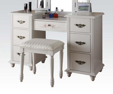 Acme Furniture 90026 Torian Series Metal 2 Drawers Vanity