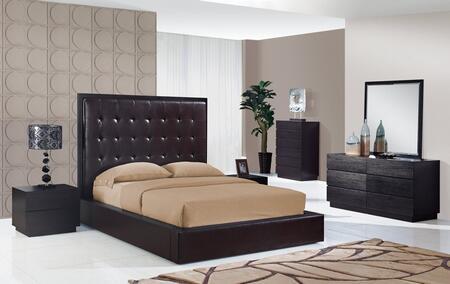 Global Furniture USA METROCHOCQB4GRP Metro Queen Bedroom Set