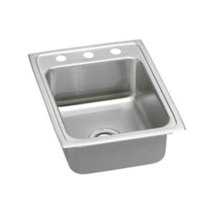 """Elkay LRQ17220 17"""" Top Mount 18-Gauge Single Bowl Self-Rim Stainless Steel Sink"""