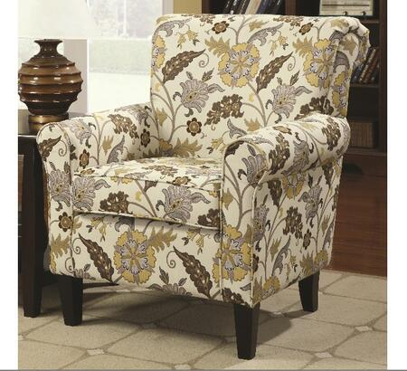 Coaster 902082 Accent Seating Series Fabric with Wood Frame in Cappuccino