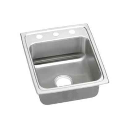 Elkay LRADQ1720500 Lustertone Drop In Single Bowl Stainless Steel Sink