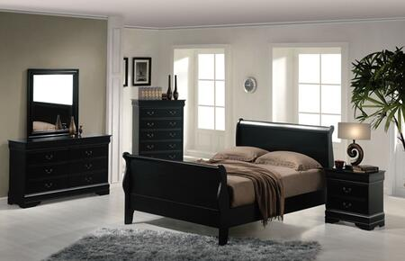 Acme Furniture 00430AQ Louis Philippe Series  Sleigh Bed