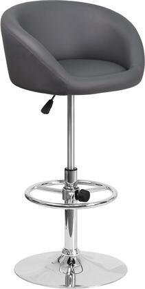 Flash Furniture CHTC31066LGYGG Residential Vinyl Upholstered Bar Stool