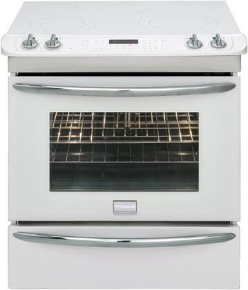 Frigidaire FGES3075KW Gallery Premier Series Slide-in Electric Range with Smoothtop Cooktop, 4.2 cu. ft. Primary Oven Capacity, Warming in White