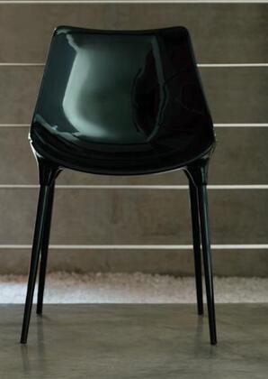 Modloft CDS028ASL5 Langham Series Modern Not Upholstered Metal Frame Dining Room Chair |Appliances Connection