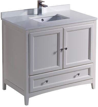"""Fresca FCB2036XXCWHU Oxford 36"""" Traditional Bathroom Vanity in"""