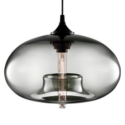 "LumiSource Torus Collection LS-OTRRND12 7"" Round Pendant with Glass Shade, 60"" Cord and Classic Edison 60-watt Bulb in"