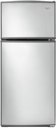 "Whirlpool WRT316SFD 28"" Top Mount Refrigerator with 16.0 cu. ft. Capacity, Standard Energy, Reversible Smooth Contour Door, Three Interior Shelves, Freezer Temperature Control, and Quiet Cooling"