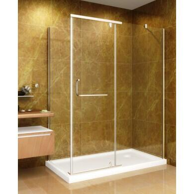 "Aston Global SD975-II-8- 60"" x 35"" Shower Enclosure with Shower Base in Chrome Finish - X Hand Drain"