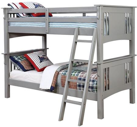Furniture of America CMBK602TGYBED Spring Creek Series  Twin Size Bed