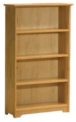 Atlantic Furniture FTBNM Solid Hardwood 4 Shelves Bookcase