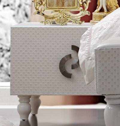 VIG Furniture SNOWWHITENS Snow White Series  Wood Night Stand |Appliances Connection