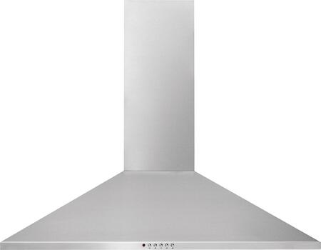 Frigidaire FHWC3x55LS Stainless Canopy Wall-Mount Hood with Washable Filters, Halogen Lighting and Bright Lighting, Stainless Steel