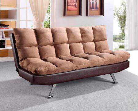 """Glory Furniture G14-S 70"""" Convertible Sofa Bed with Plush Seating, Tufted Cushions and Polished Metal Legs in"""