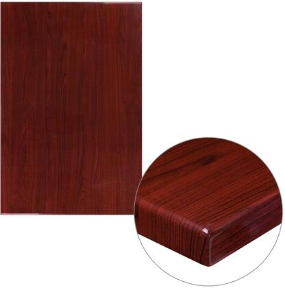 """Flash Furniture TPMAH"""" Table Top with 2"""" Thick Resin Top, Square Shape and High Gloss Look in Mahogany Finish"""