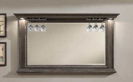 American Heritage 100842 Riviera Series Mirror with Glass Stemware Holders, Beveled Edge Mirror and Impressive Backlighting:
