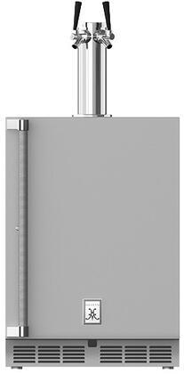 """Hestan GFDS2 24"""" Outdoor Double Faucet Beer Dispenser with Solid Locking Door"""