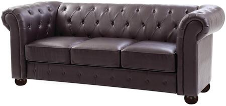 Glory Furniture G494S G490 Series Stationary Faux Leather Sofa