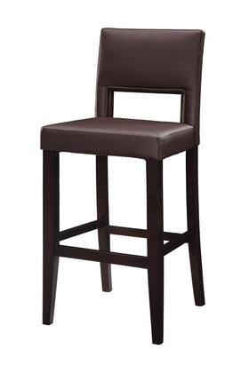 Linon 14054VESP01KDU Vega Series Commercial or Residential PVC Upholstered Bar Stool