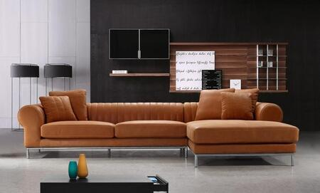 VIG Furniture VG2T1004  Sofa and Chaise Leather Sofa |Appliances Conncetion