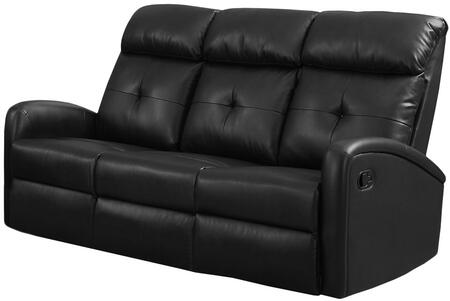 "Monarch I 88BX 72"" Reclining Sofa with Bonded Leather,  Lumbar Support and Comfortably Padded"